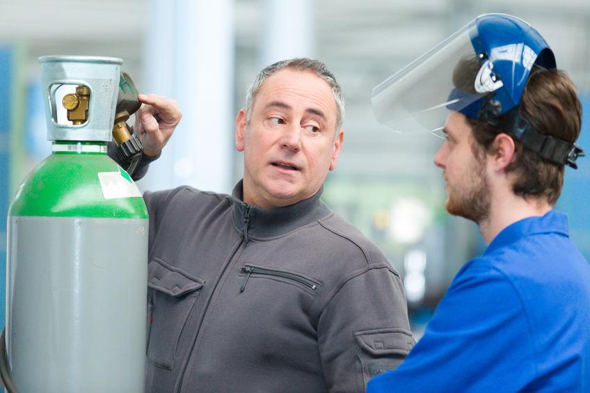 Einweisung in den Umgang mit Gase