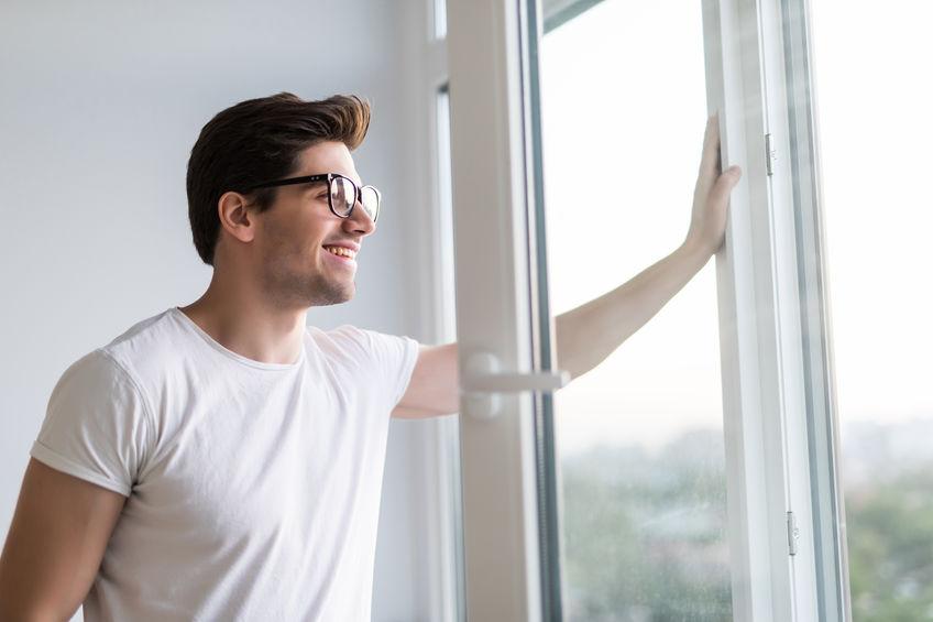 Fenster öffnen zum Lüften